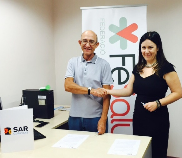 Firma convenio SARquavitae y FeSalut 2